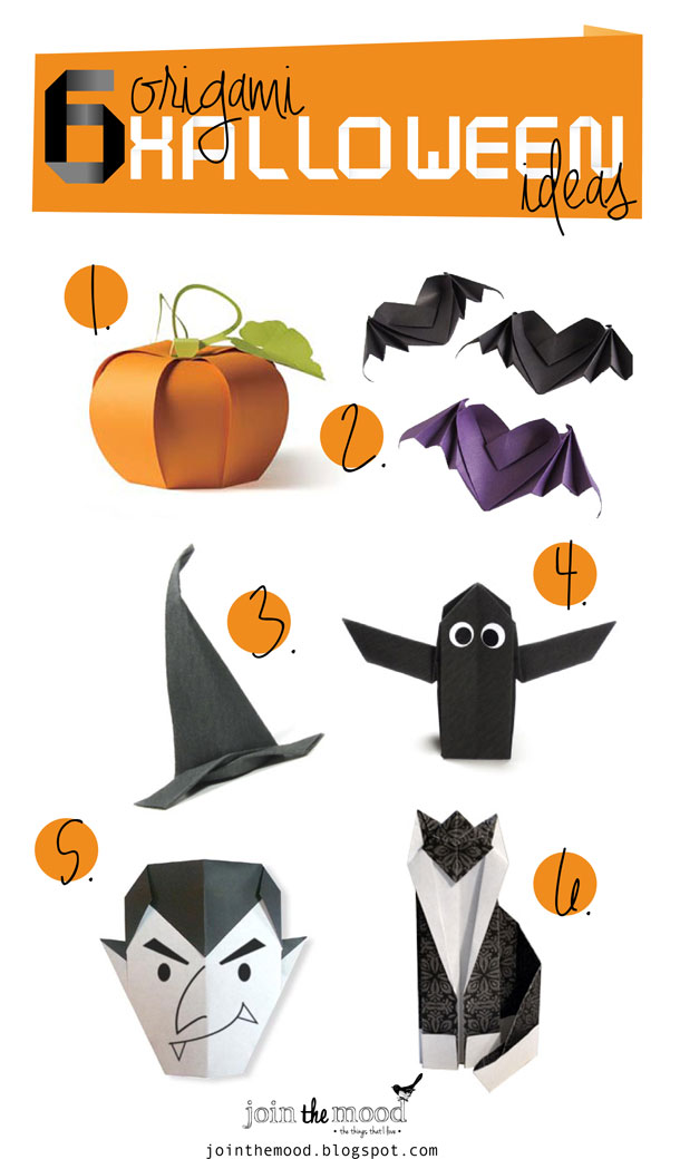 оригами на хэллоуин схемы летучая мышь