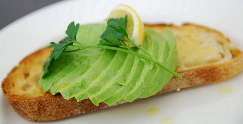 Lemon and Olive Oil Toast with Avocado Topping