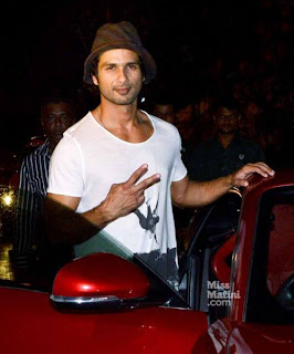 Shahid Kapoor spotted at Olive in Bandra