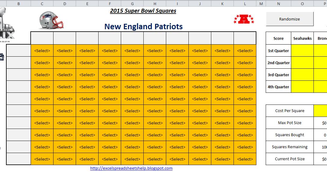 excel spreadsheets help 2015 super bowl squares