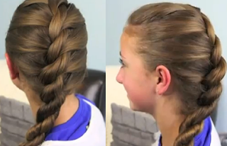 French Twist into Rope Braid hair style