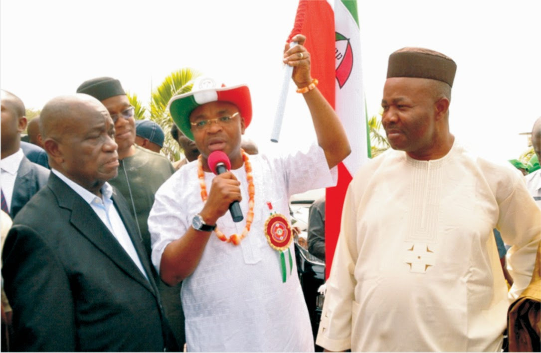 PDP guber candidate says, this flag does not belong to me  … Dedicates Victory to Akwa Ibom people
