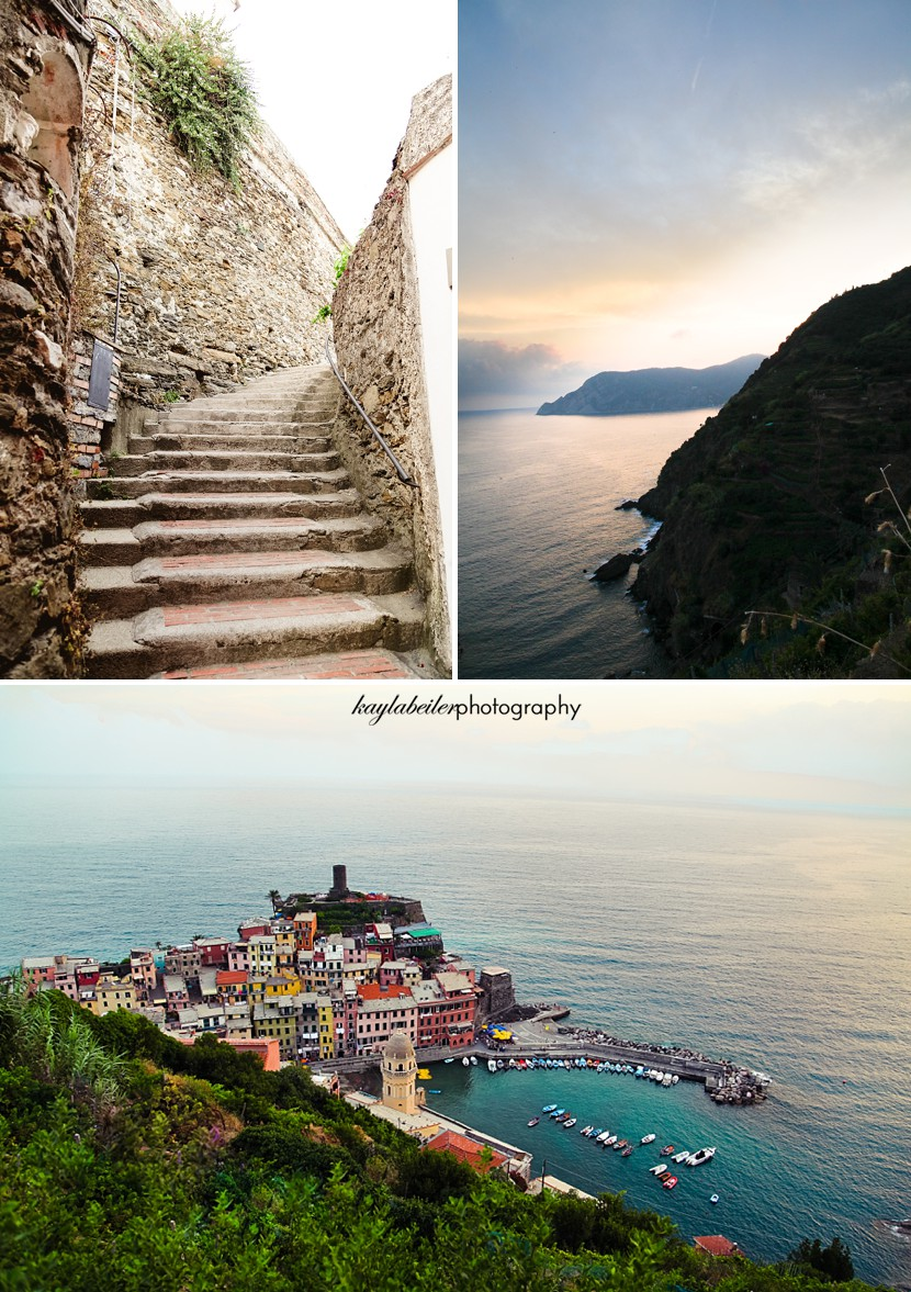 sunset in cinque terre photo
