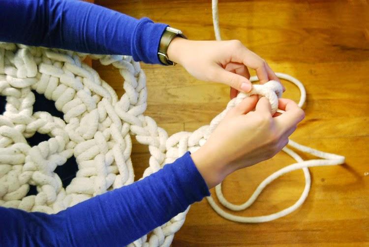 Толстые нитки для вязания ковриков крючком 50