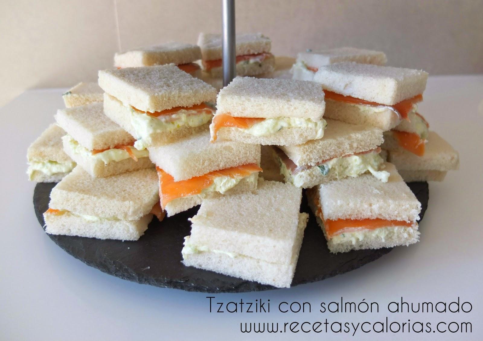 tzatziki con salmón ahumado
