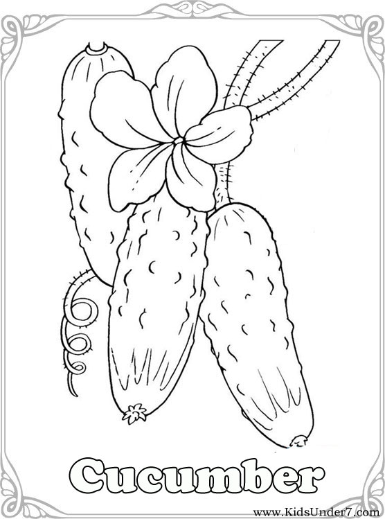 kids under 7: vegetables coloring pages - Coloring Pages Leafy Vegetables