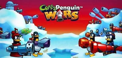 Crazy Penguin Wars, acción y juego de estrategia para Facebook