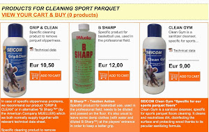 PRODUCTS FOR CLEANING SPORT PARQUET