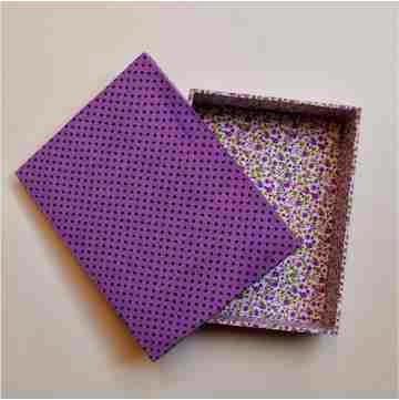 caixa com forração em tecido