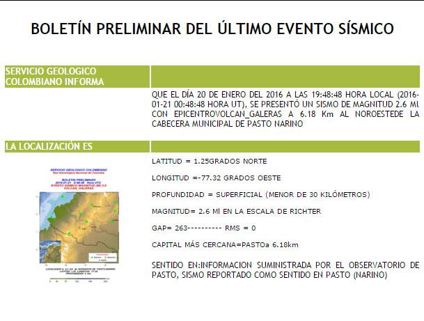 INFORMATIVO DEL GUAICO: Tembló en Pasto este miércoles