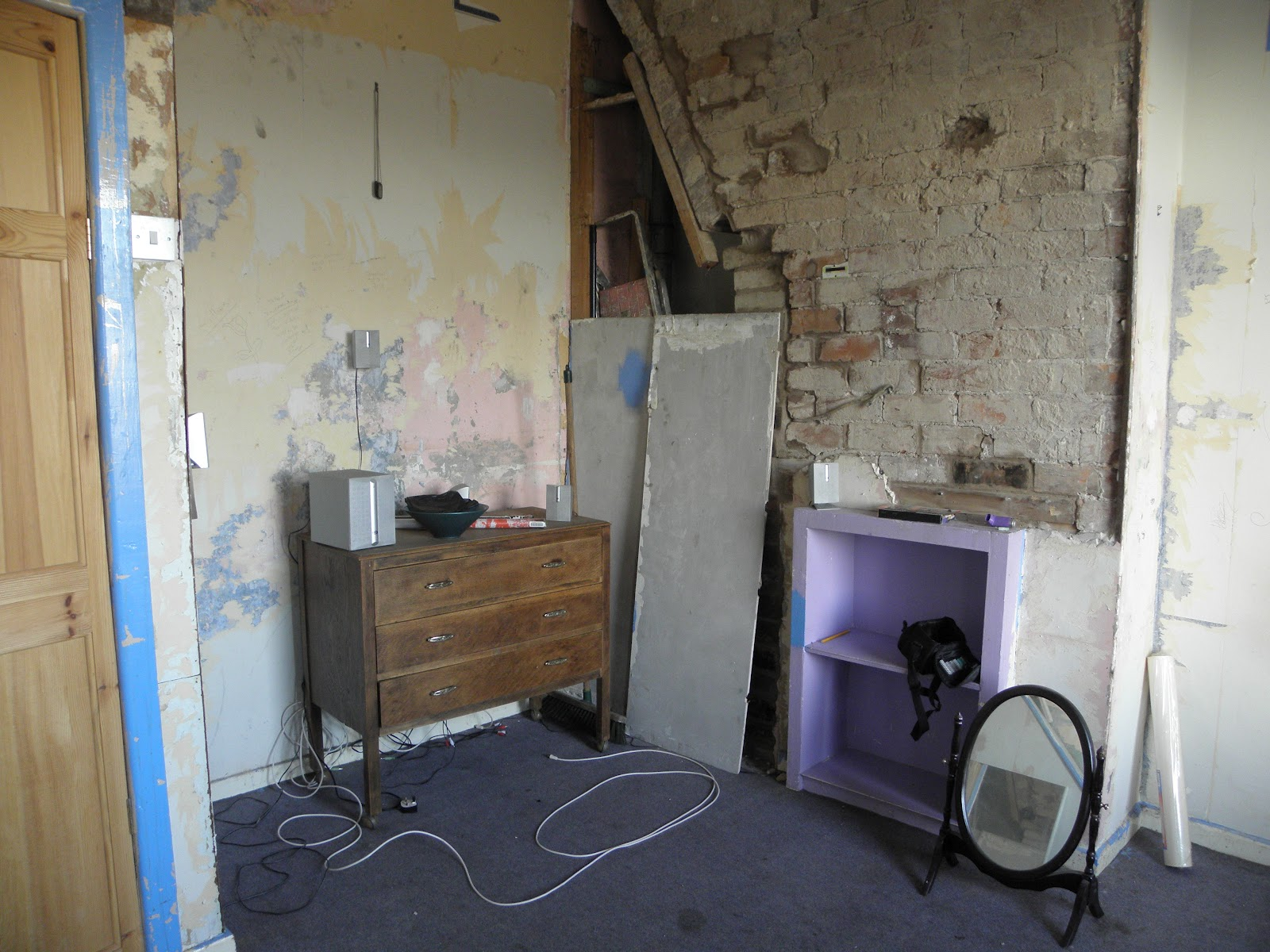 how to take out chimney breast