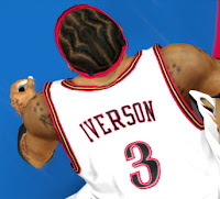 NBA 2K13 Allen Iverson 76ers Cyberface Patch