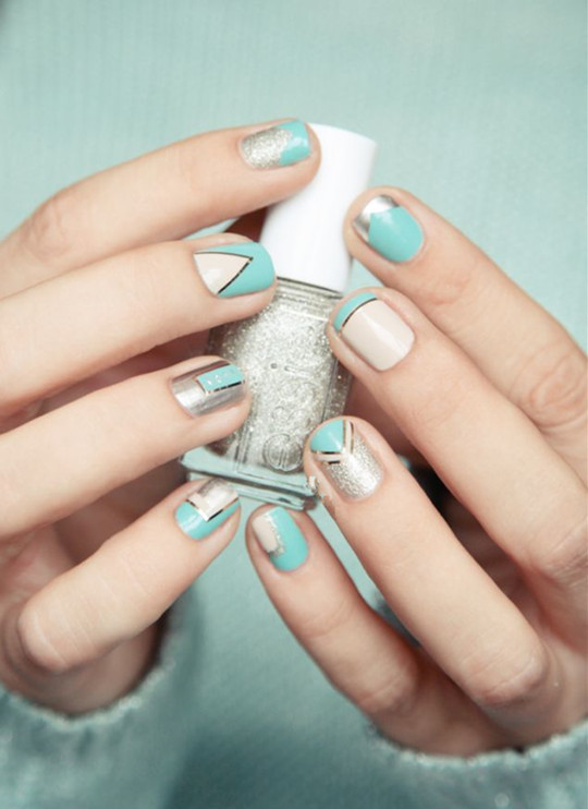 Mixed Metal Manicure for wedding 2016 ideas