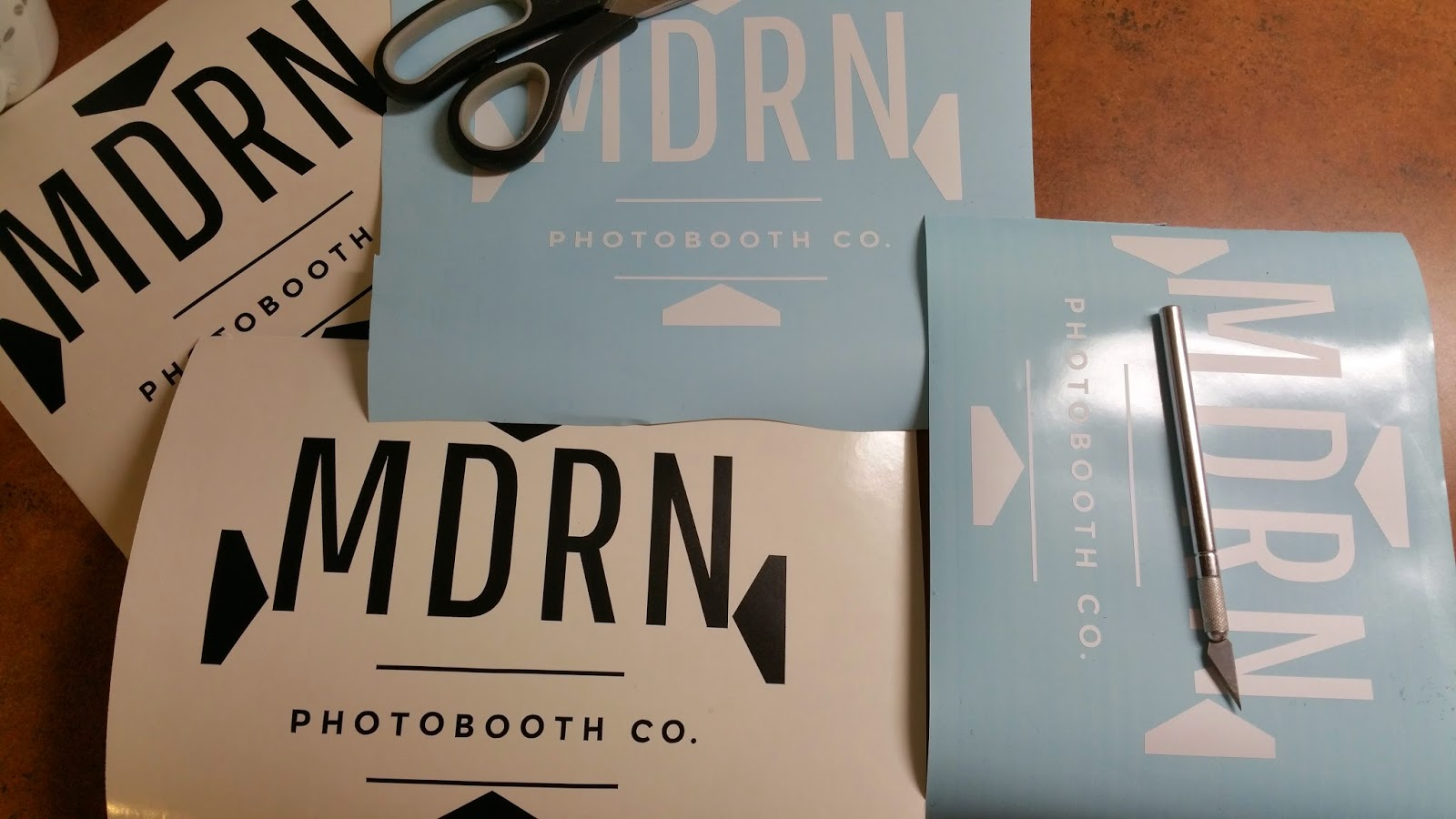 Modern Photobooth Company Logo Vinyl Decals