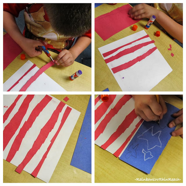 "Veteran's Day Observance: First Grade Art is Response to ""Red, White and Blue"""