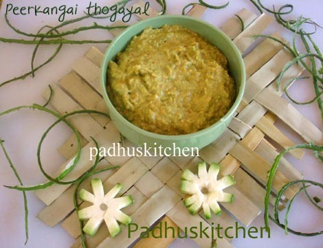 Ridge Gourd Chutney-Peerkangai thuvaiyal