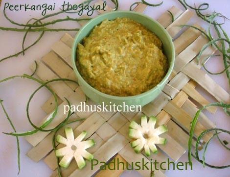 Ridge Gourd Chutney-Peerkangai thuvaiyal