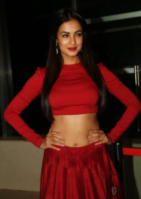 Sonal Chauhan in Jayanti Reddy Label Red Designer Lehenga