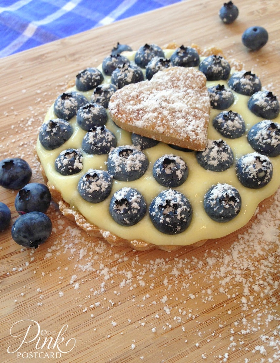 Easy Lemon Blueberry tarts