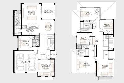 Planos de casas de dos pisos para construir for Distribucion de casas de dos pisos