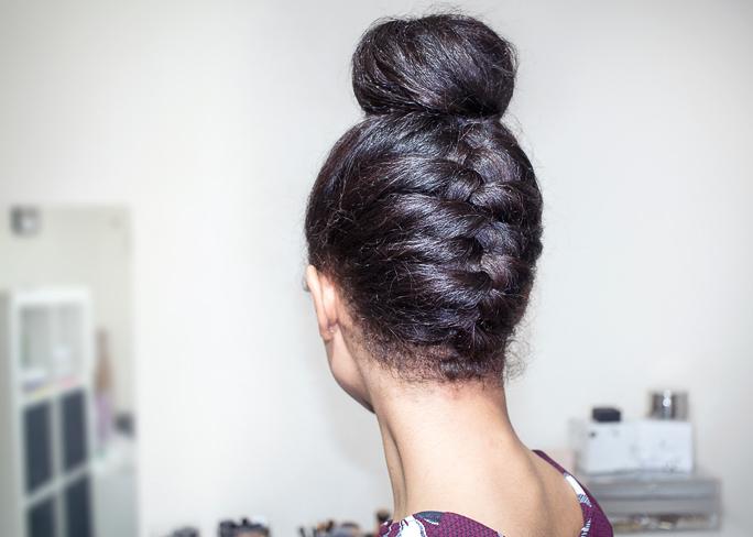 Fresh Lengths Hair Upside Down Braided Bun
