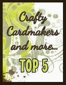I made Top 5 at Crafty Cardmakers