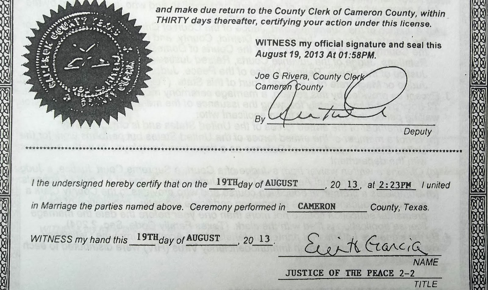 El rrun rrun since 2012 erin knew about 72 hour waiting period in fact she performed at least 13 such marriages often less than an hour after the couple had acquired their marriage license from the cameron county xflitez Image collections