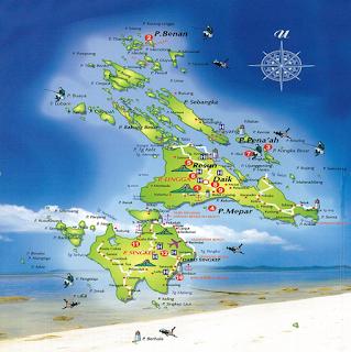Peta Kabupaten Lingga Provinsi Kepulauan Riau