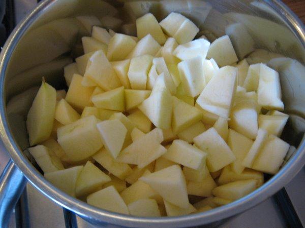 Zelf Keuken Maken Goedkoper : Schil de appels, en snijd ze in stukjes. Doe ze in de pan met een