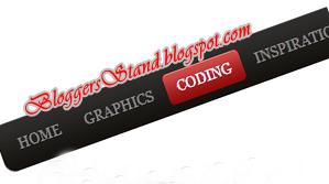 Red & Black CSS3 Hover Effect Navigation Menu Bar for blogger