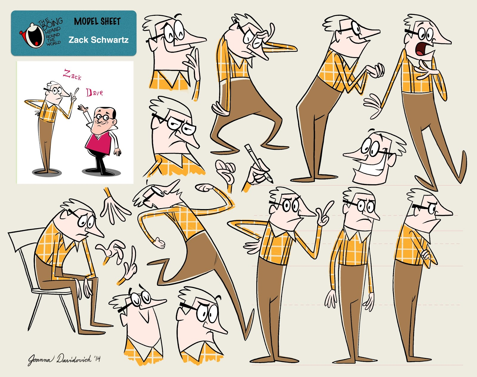 Character Design Upa : Joanna davidovich s art animation upa doc zack