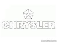 Gambar mewarnai logo mobil Chrysler