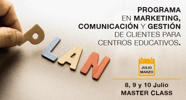 Programa Superior en Marketing, Comunicación y Gestión de Clientes párrafo Centros Educativos.