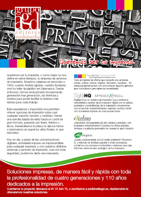 Grupo AGD Queremos ser tu imprenta
