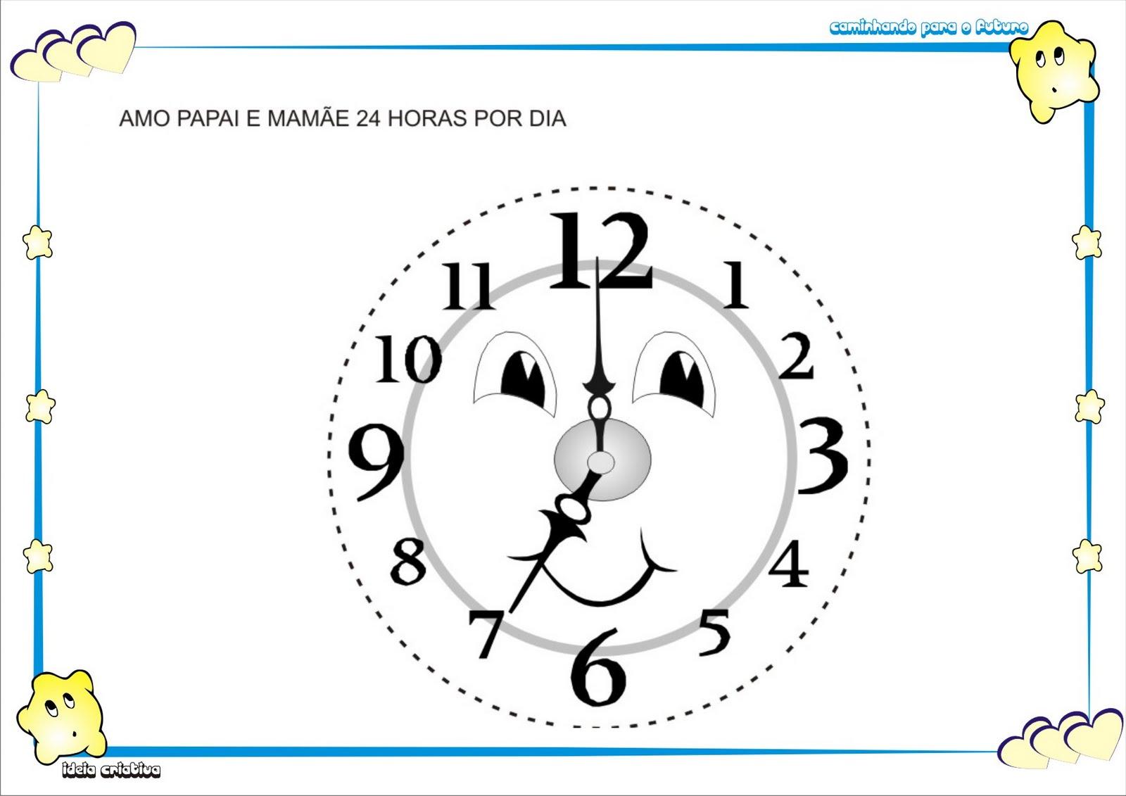 Atividade medida de Tempo Relógio de Parede com Molde