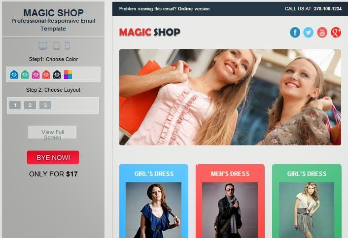 Magic Shop – Responsive Ecommerce Email Template