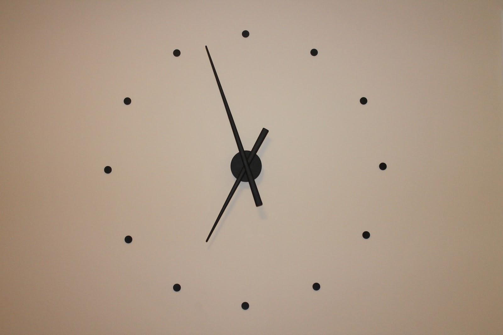 stor klocka på väggen