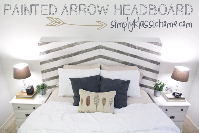 Painted Headboard Ideas painted arrow headboard & master bedroom updates - yellow bliss road