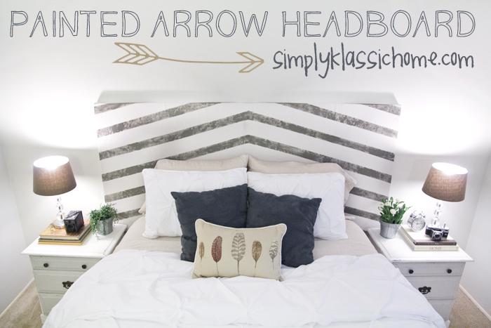 Painted Arrow Headboard & Master Bedroom Updates