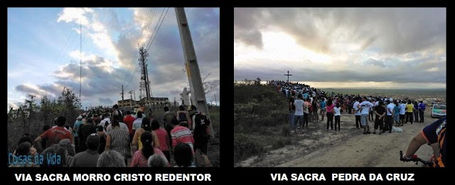 """""""Vias Sacras"""" de Limoeiro relembram calvário de Cristo."""