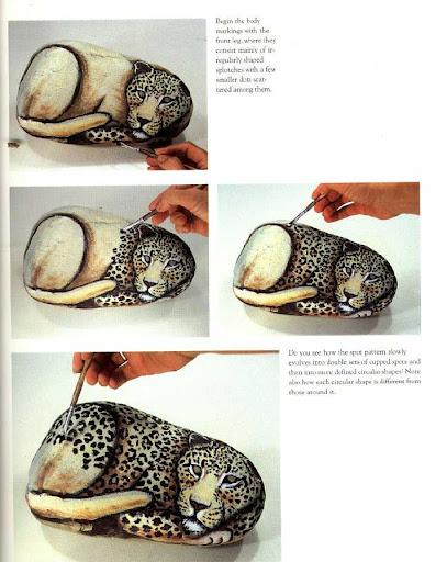 El arte de crear pintura leopardo en piedra paso a paso for Decoracion hogar leopardo