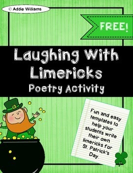 http://www.teacherspayteachers.com/Product/St-Patricks-Day-Limericks-FREE-120141