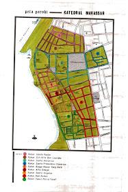 Peta Wilayah Paroki Katedral