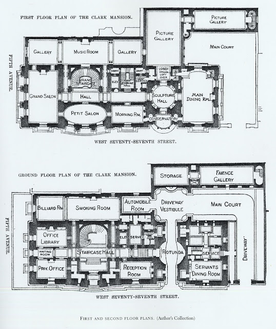 Mansion floor plans william a clark house new york for New york house plans
