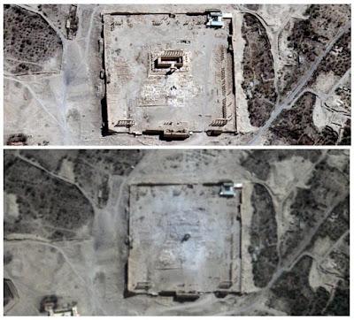Σχεδόν πλήρης η καταστροφή του δεύτερου ναού στην Παλμύρα - εικόνες