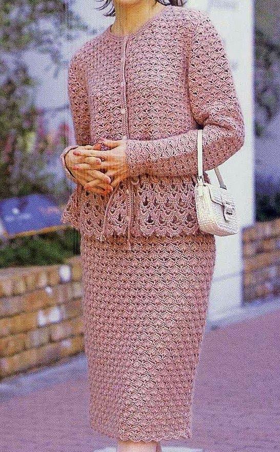 Вязание женских костюмов 60