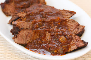 Slow Cooker (CrockPot) Southwestern Pot Roast Recipe from Kalyn's Kitchen found on SlowCookerFromScratch.com