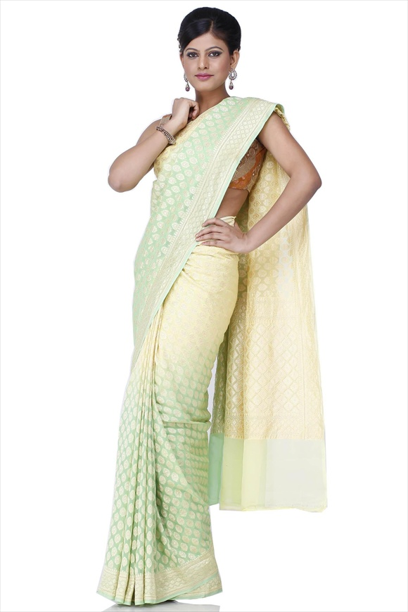 Jasmine Green Georgette Banarasi Saree