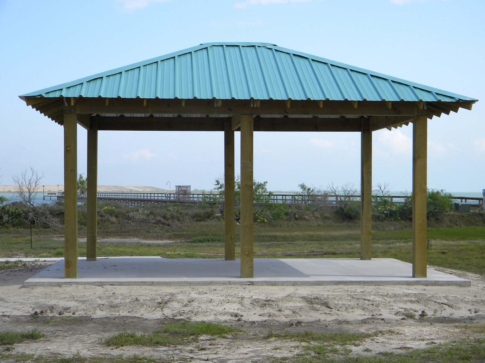 Covered Picnic Tables : Sunset bay community new covered picnic shelter completed