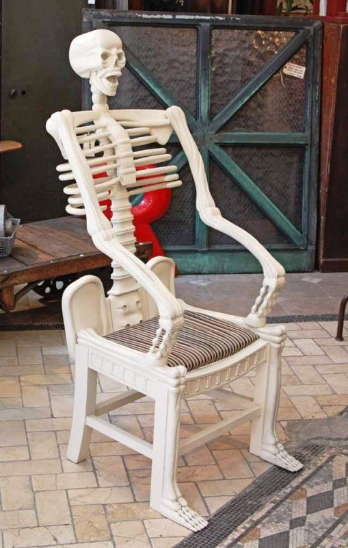 midnight in the garden of evil skull chairs skeleton chairs